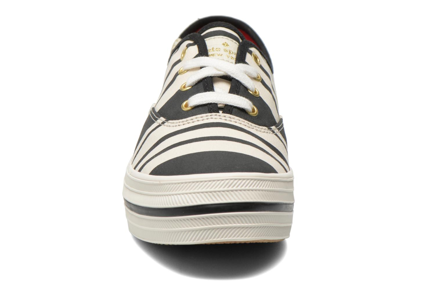 Trainers Keds Triple Fairemont Stripe Black model view