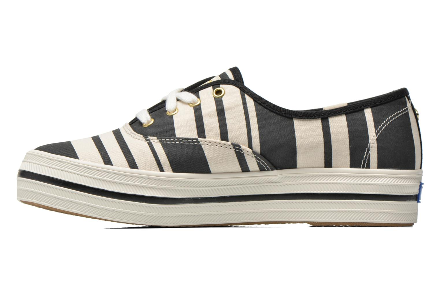 Trainers Keds Triple Fairemont Stripe Black front view