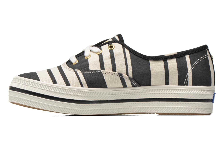 Sneaker Keds Triple Fairemont Stripe schwarz ansicht von vorne
