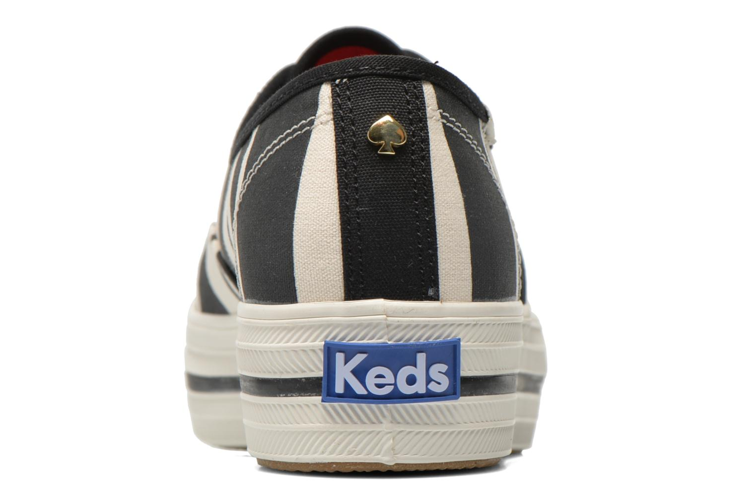 Trainers Keds Triple Fairemont Stripe Black view from the right