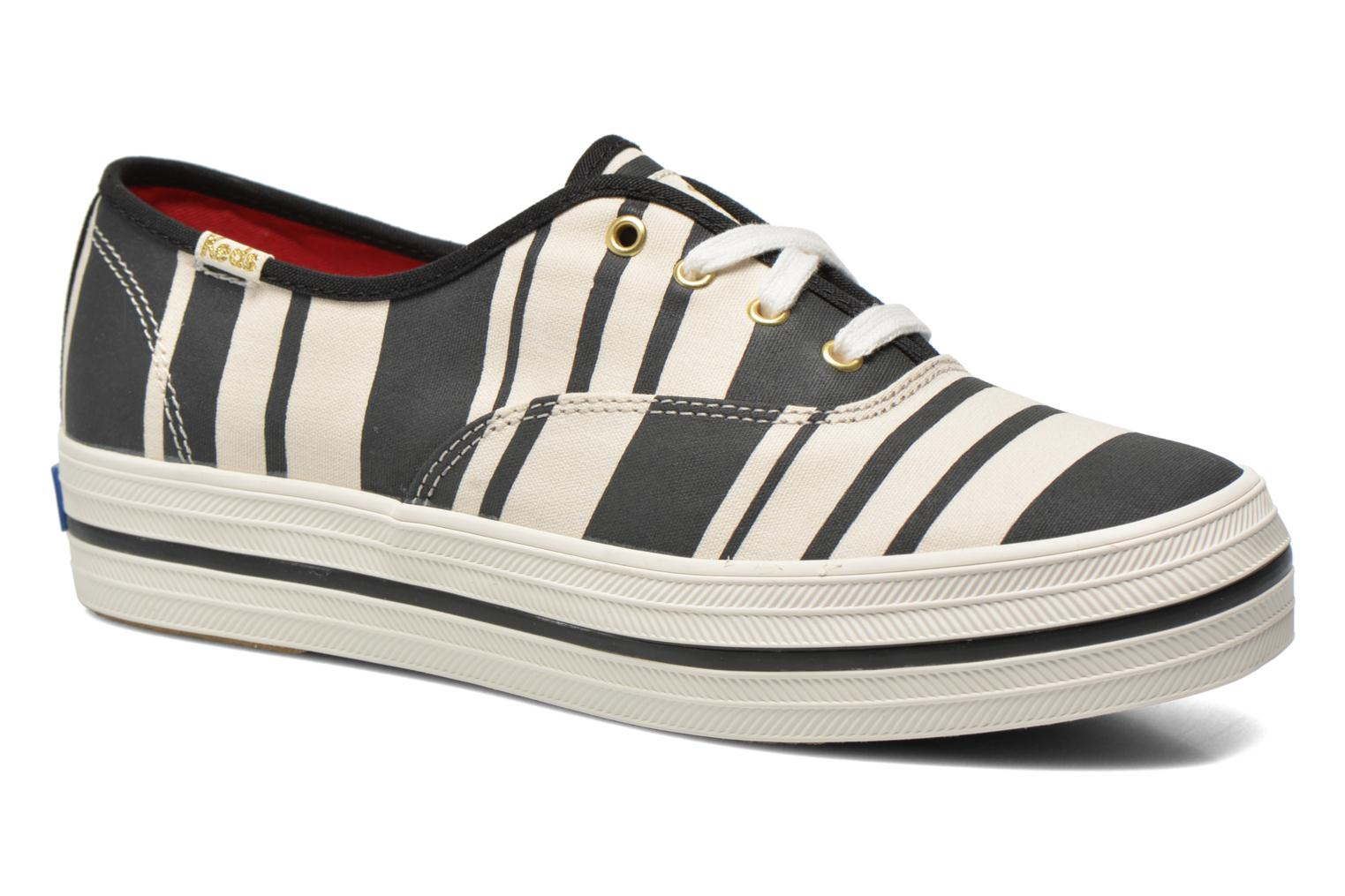 Trainers Keds Triple Fairemont Stripe Black detailed view/ Pair view
