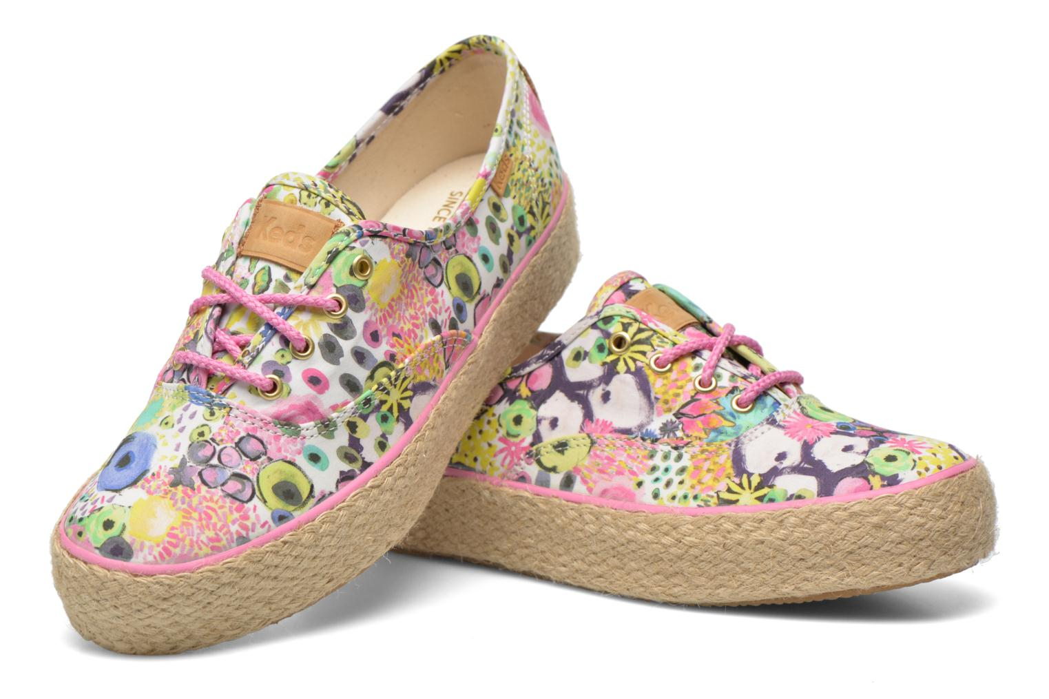 Trainers Keds Triple Liberty Floral Multicolor 3/4 view