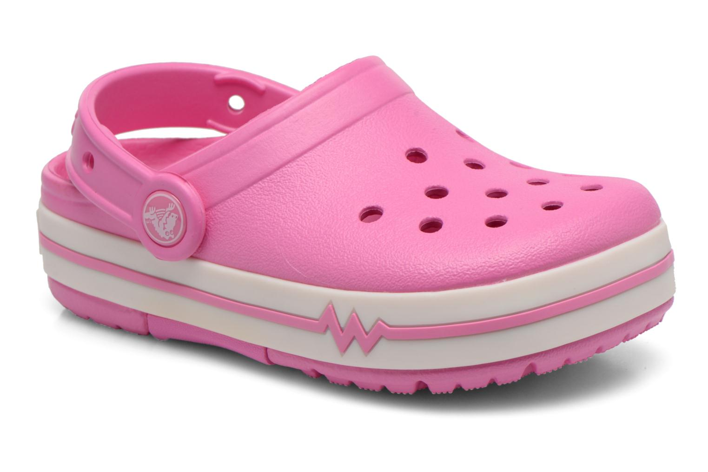 Sandales et nu-pieds Crocs CrocsLights Clog PS Rose vue détail/paire