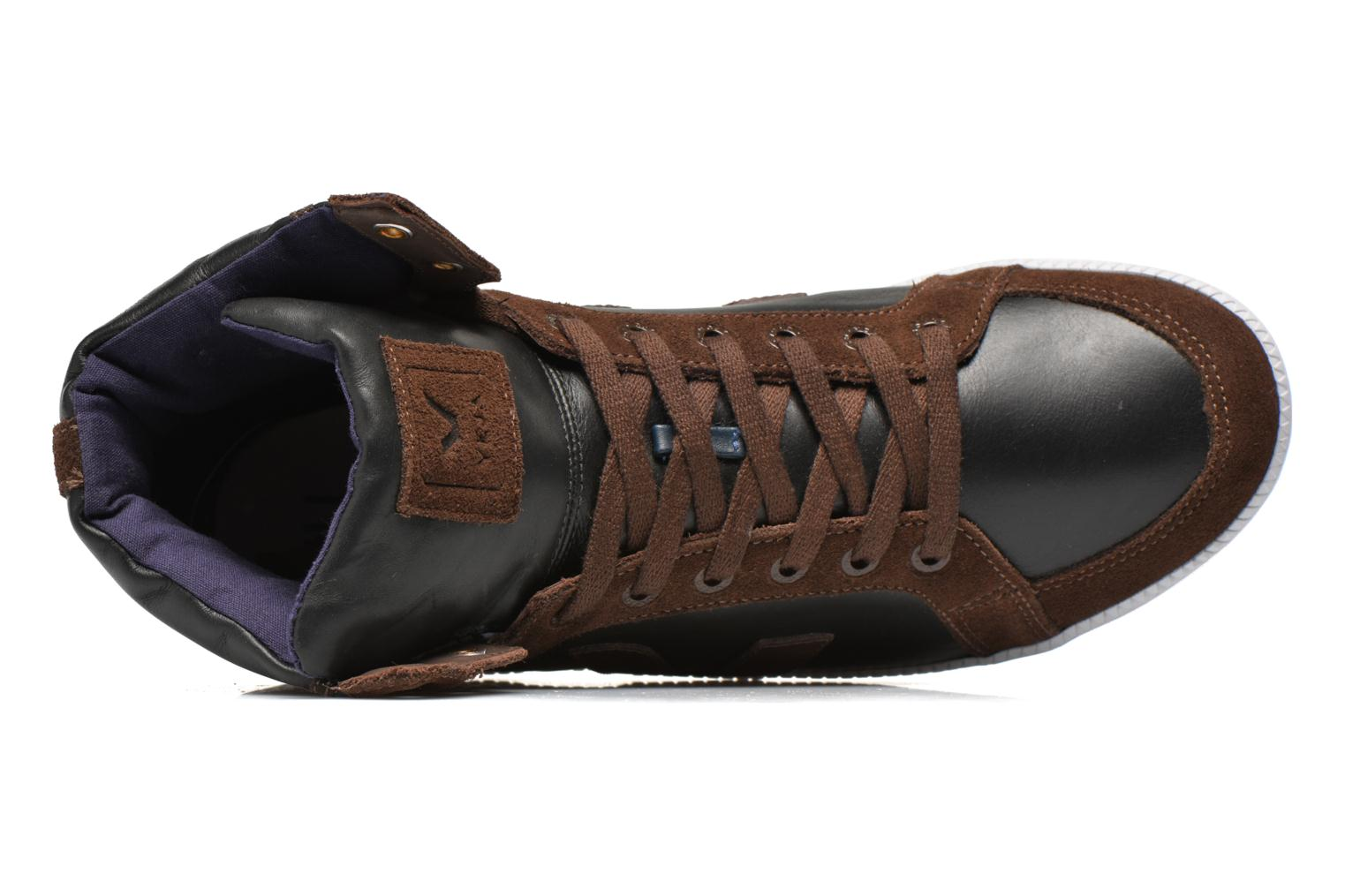 Trainers Veja Spma leather Black view from the left