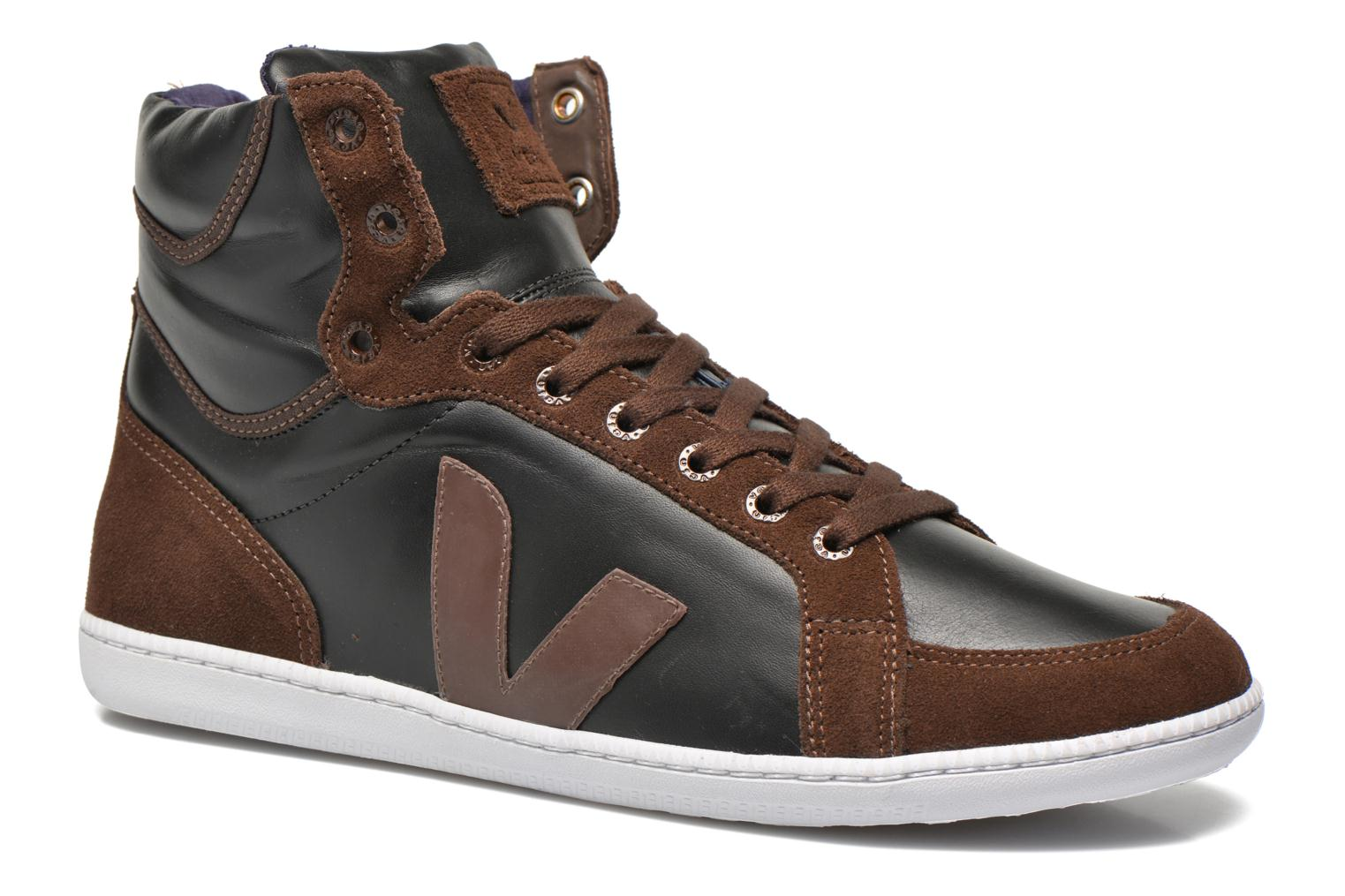 Trainers Veja Spma leather Black detailed view/ Pair view