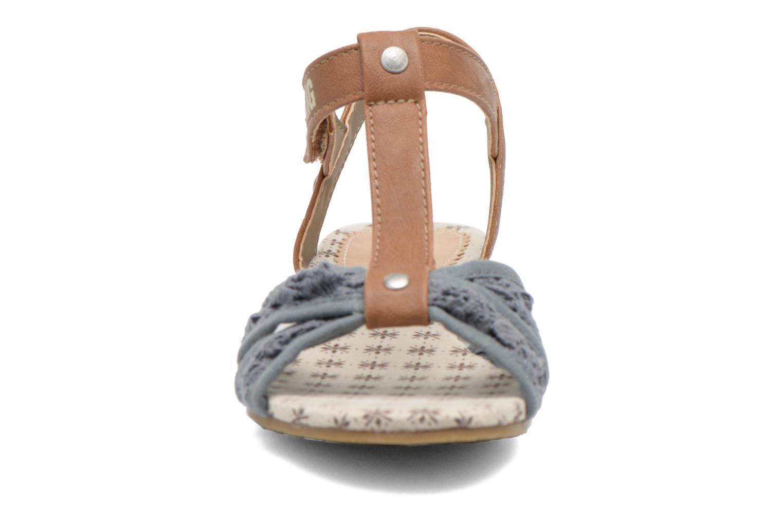 Sandalen Mustang shoes Neele blau schuhe getragen
