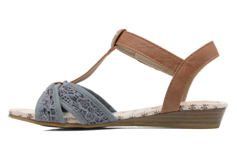 Sandales et nu-pieds Mustang shoes Neele Bleu vue face