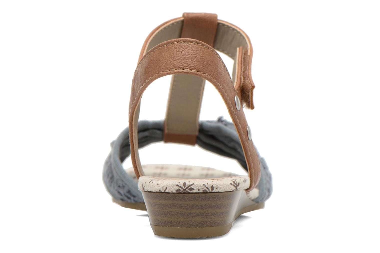 Sandalen Mustang shoes Neele blau ansicht von rechts