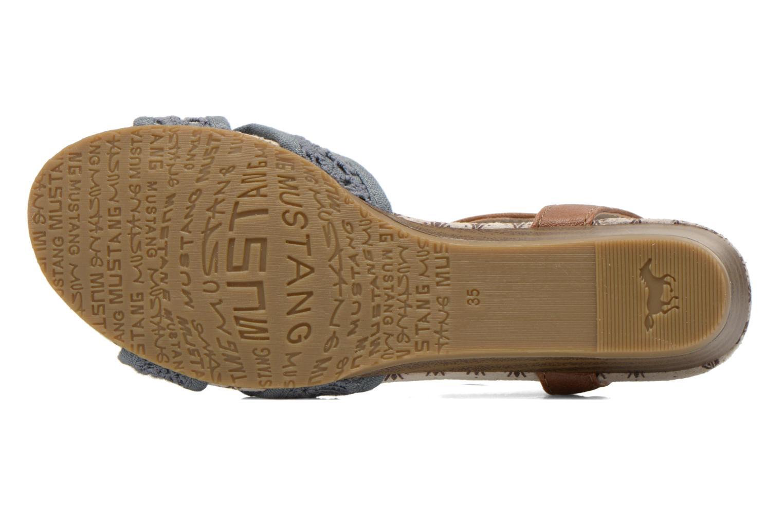 Sandalen Mustang shoes Neele blau ansicht von oben