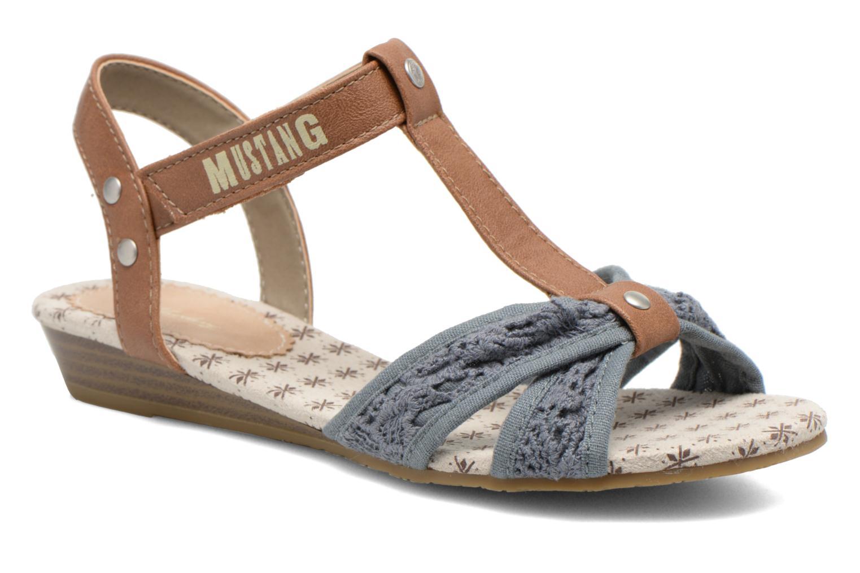 Sandales et nu-pieds Mustang shoes Neele Bleu vue détail/paire