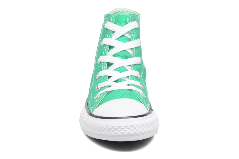 Baskets Converse Chuck Taylor All Star Hi Vert vue portées chaussures