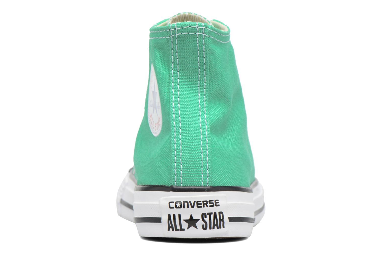 Sneaker Converse Chuck Taylor All Star Hi grün ansicht von rechts