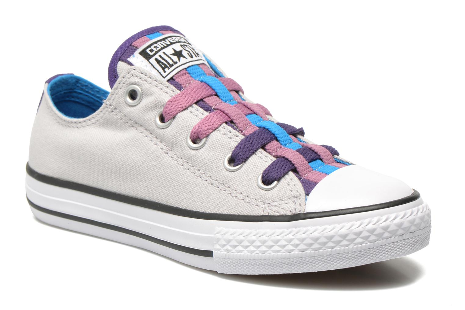 Baskets Converse Chuck Taylor All Star Loopholes Slip Gris vue détail/paire