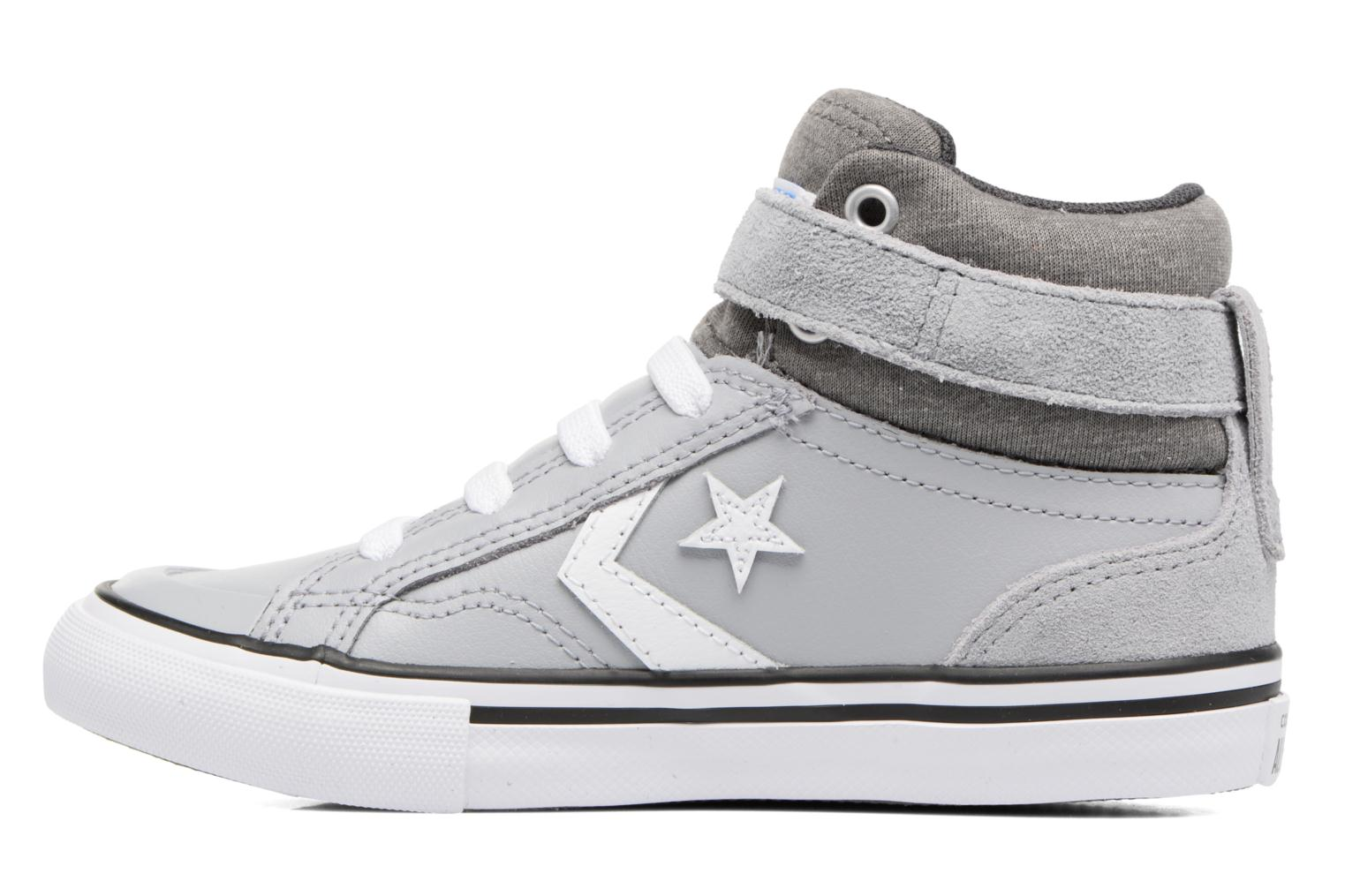 Trainers Converse Pro Blaze Strap Stretch Hi Sport Leather Grey front view