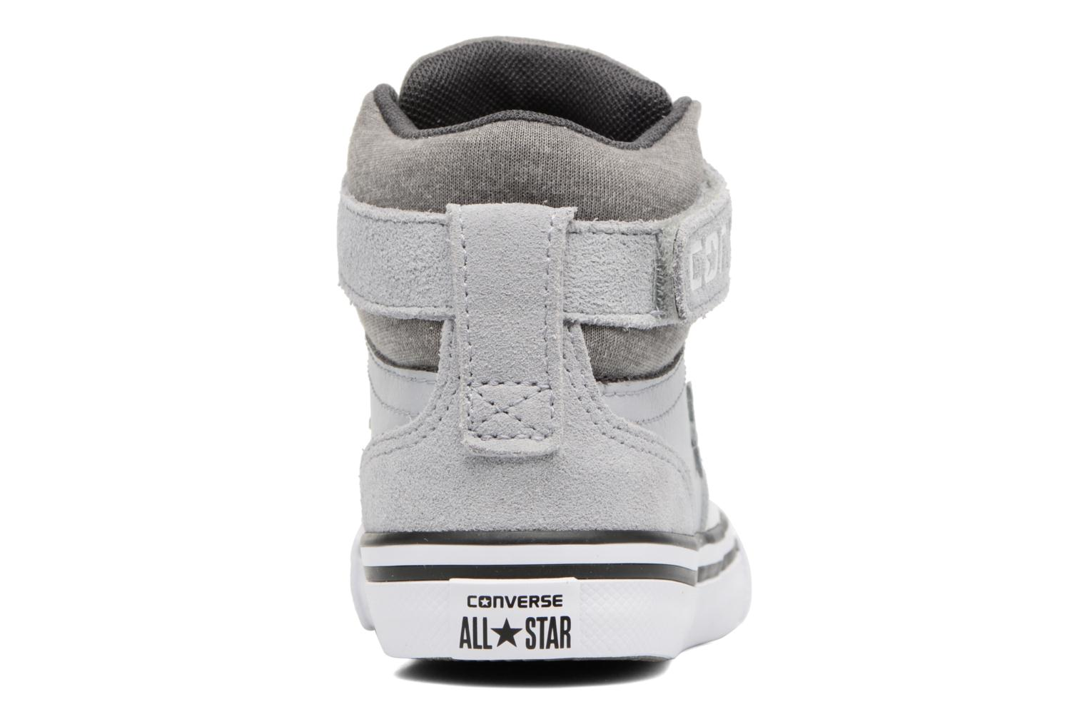 Trainers Converse Pro Blaze Strap Stretch Hi Sport Leather Grey view from the right