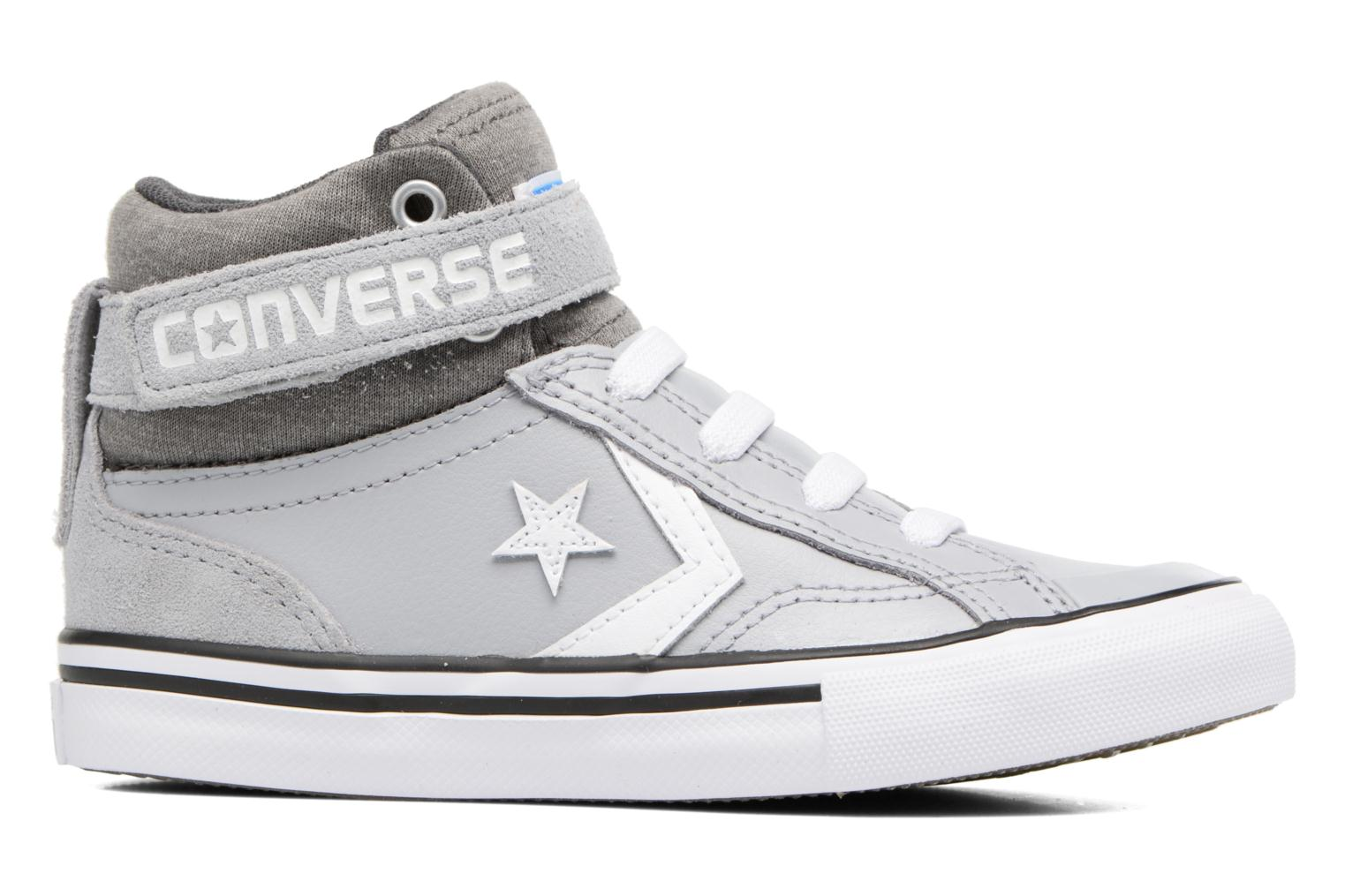 Trainers Converse Pro Blaze Strap Stretch Hi Sport Leather Grey back view