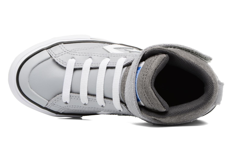 Deportivas Converse Pro Blaze Strap Stretch Hi Sport Leather Gris vista lateral izquierda