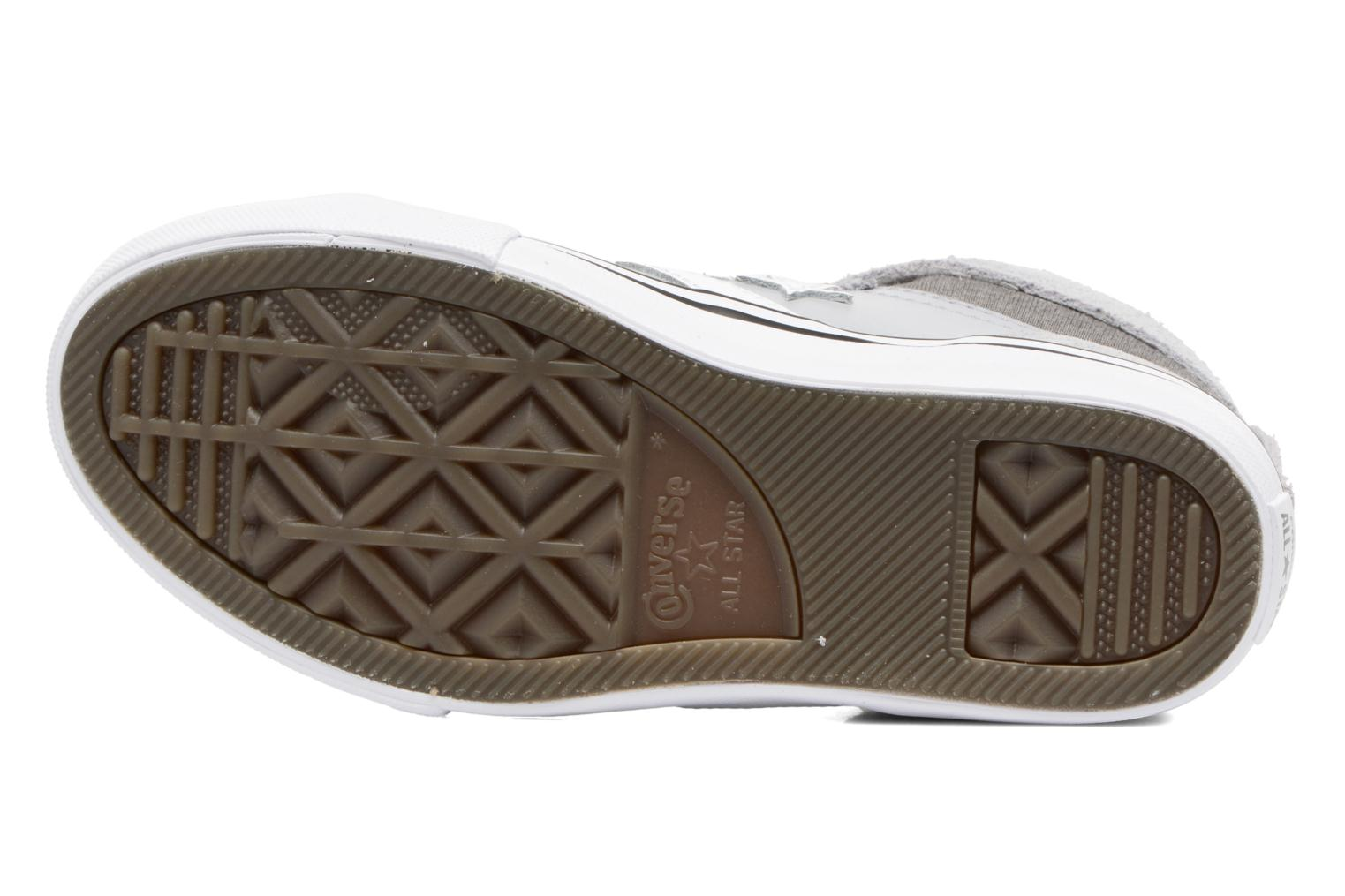 Trainers Converse Pro Blaze Strap Stretch Hi Sport Leather Grey view from above