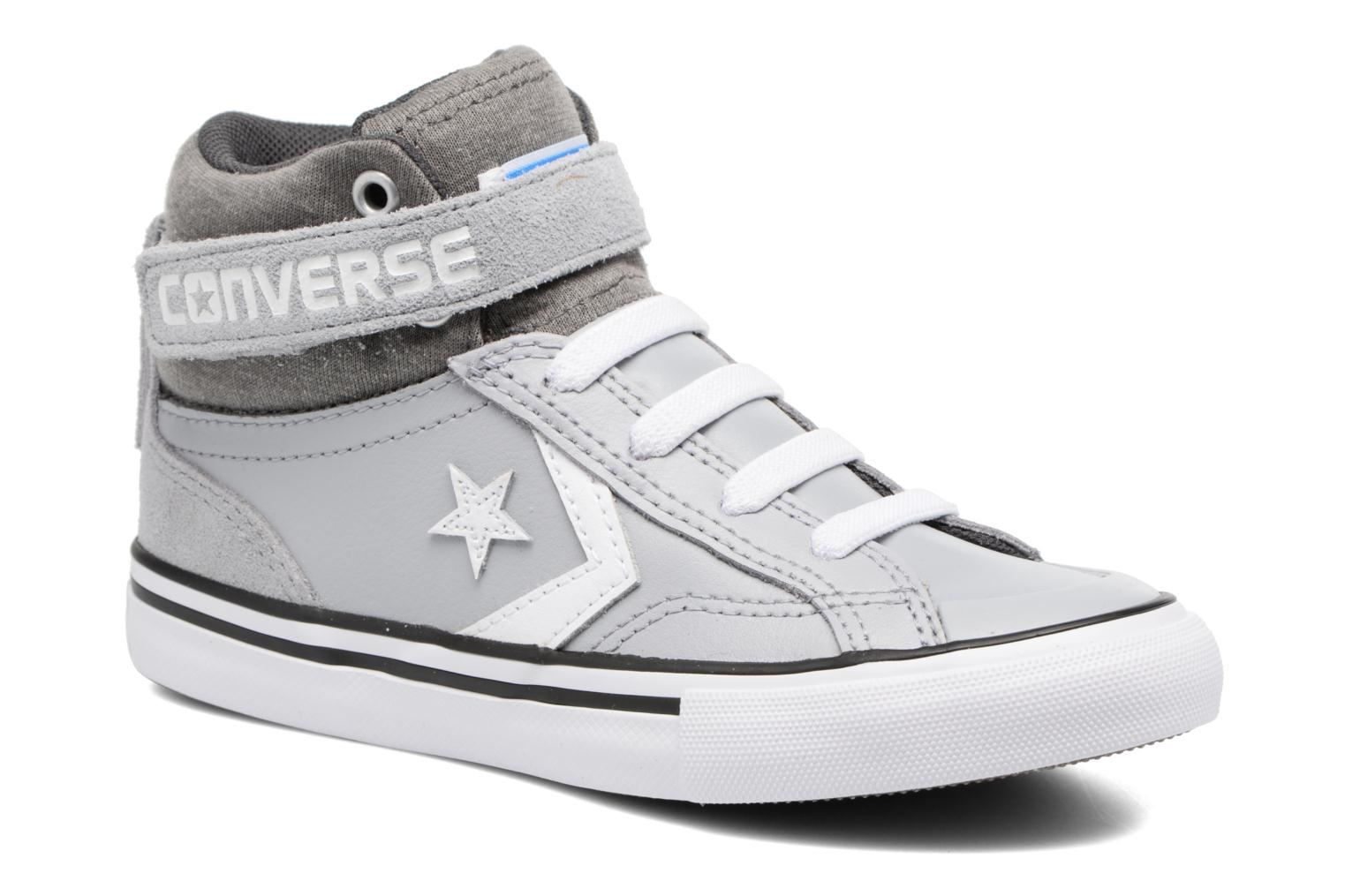 Trainers Converse Pro Blaze Strap Stretch Hi Sport Leather Grey detailed view/ Pair view