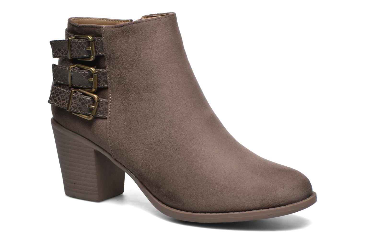 Ankle boots I Love Shoes THEVIRE Brown detailed view/ Pair view