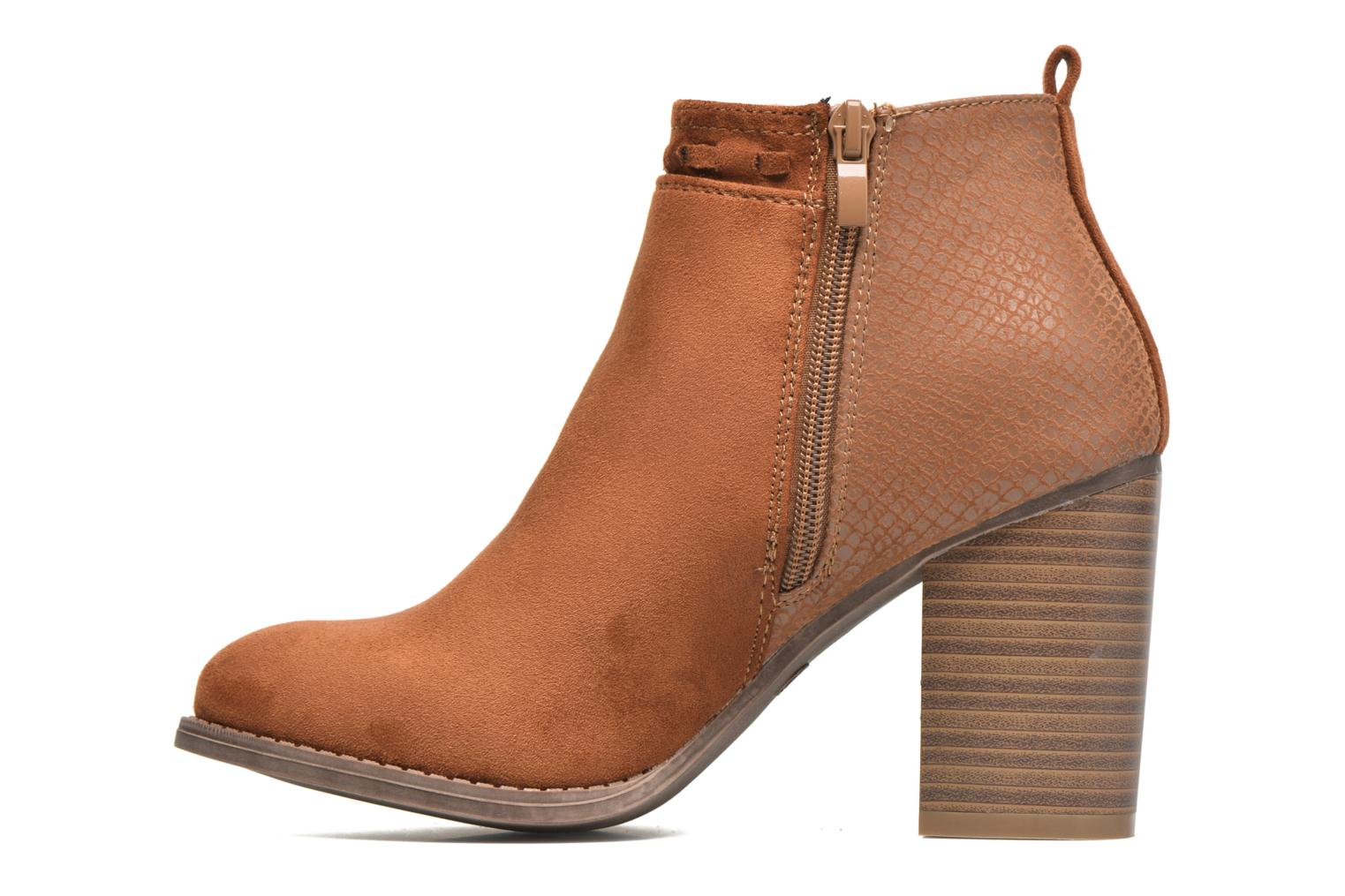 Ankle boots I Love Shoes THANSE Brown front view