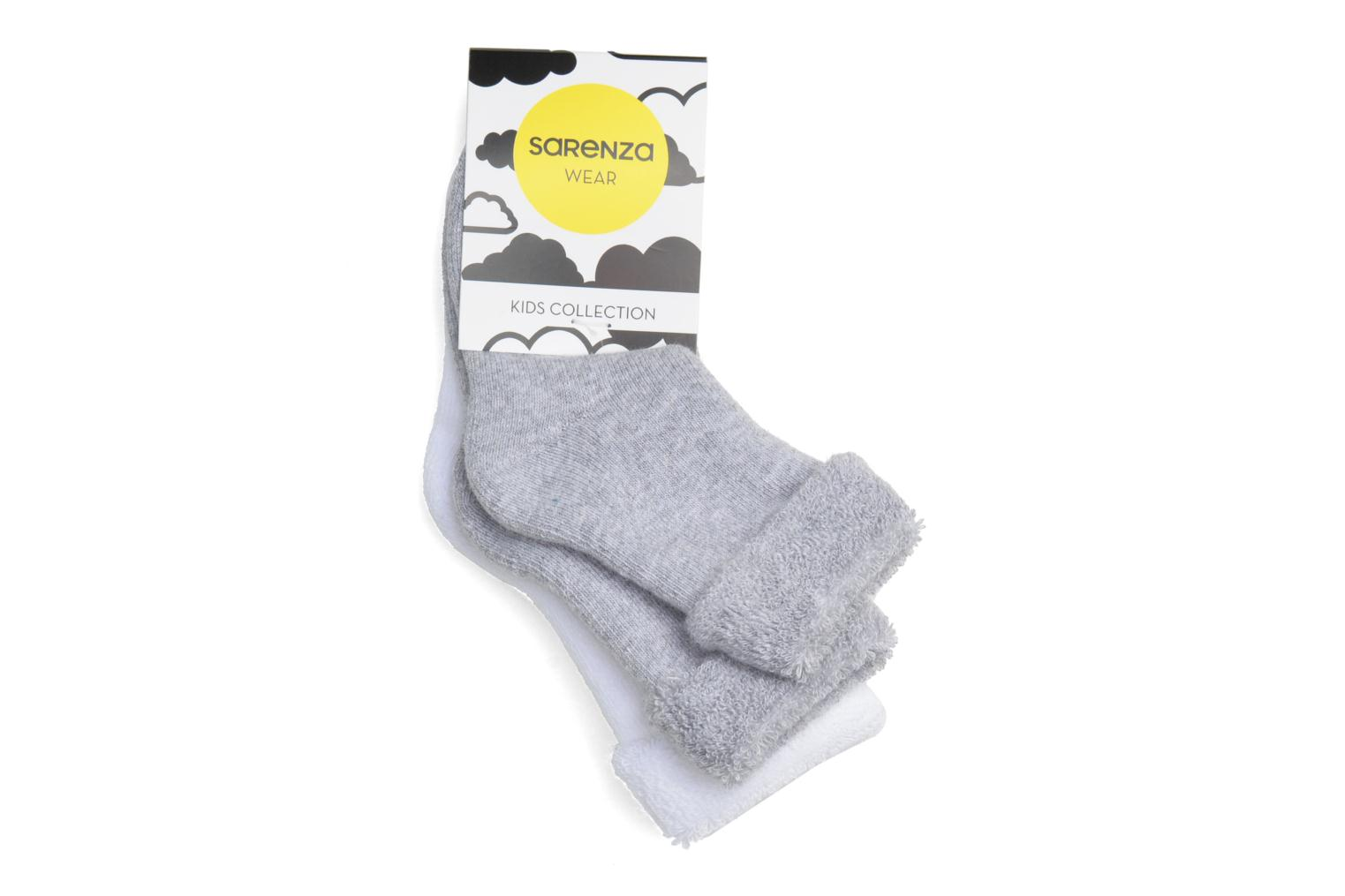 Socks Baby Pack of 2 blanc/gris chiné
