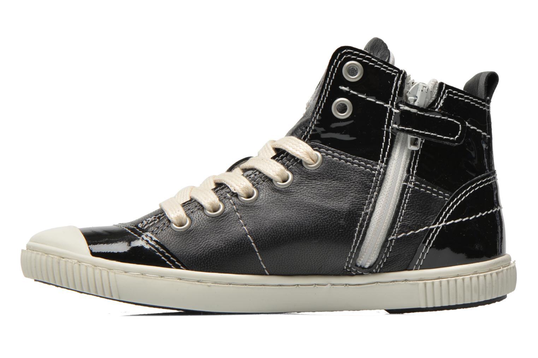 Sneaker Pataugas Banjou J schwarz ansicht von vorne