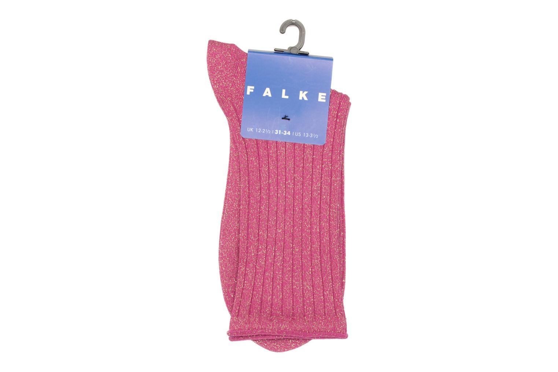 Chaussettes et collants Falke Socquettes GLITTER Rose vue derrière