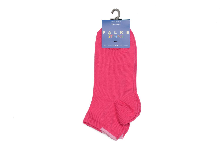 Chaussettes et collants Falke Mini-Socquettes FRIENDS Pack de 2 Rose vue portées chaussures