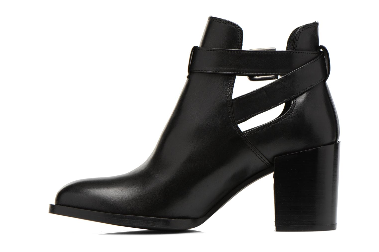 Ankle boots Minelli F80 801 Black front view