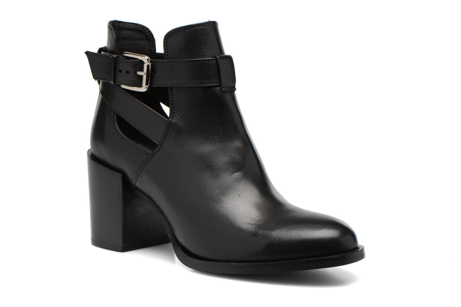 Ankle boots Minelli F80 801 Black detailed view/ Pair view