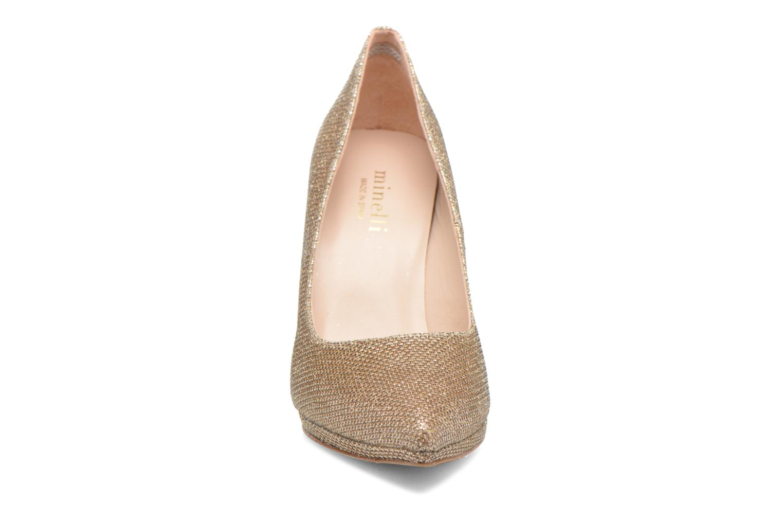 Escarpins Minelli F91 711/TIS Or et bronze vue portées chaussures