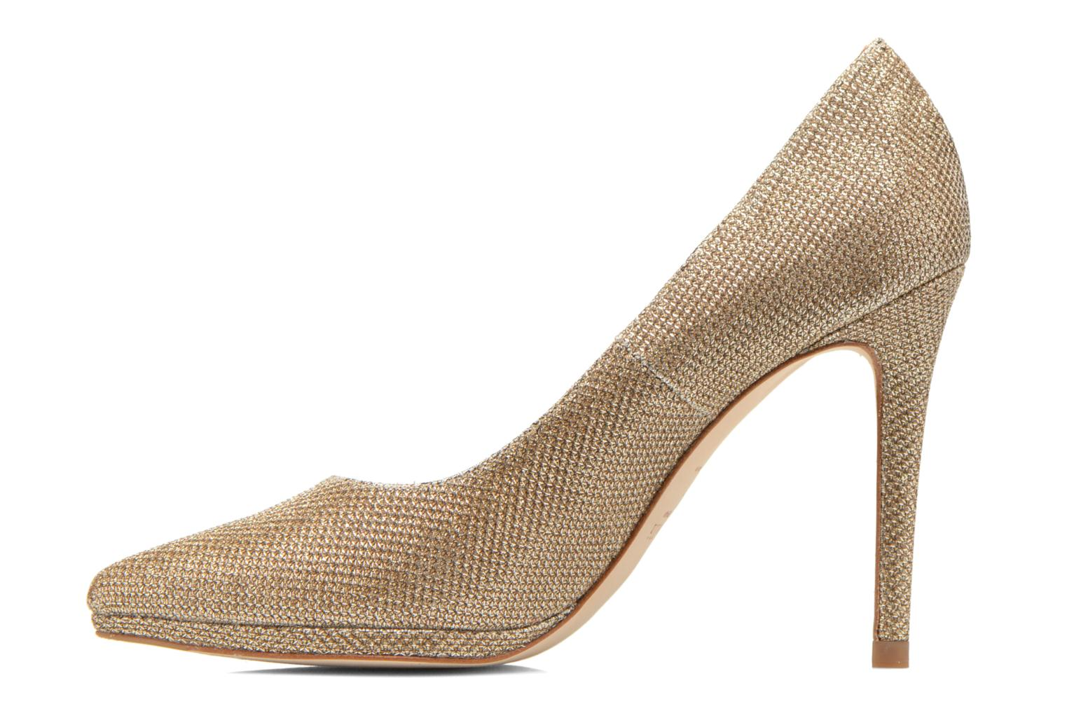 High heels Minelli F91 711/TIS Bronze and Gold front view