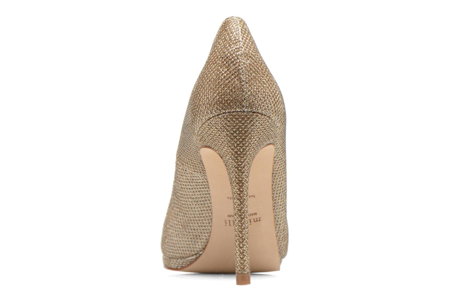 High heels Minelli F91 711/TIS Bronze and Gold view from the right