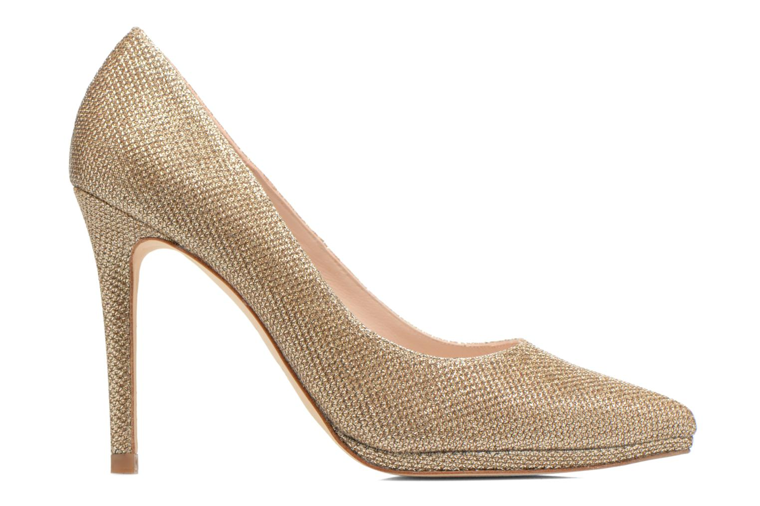 High heels Minelli F91 711/TIS Bronze and Gold back view