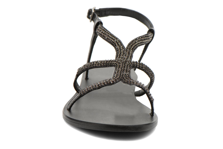 Sandalen Minelli F63 802 schwarz schuhe getragen