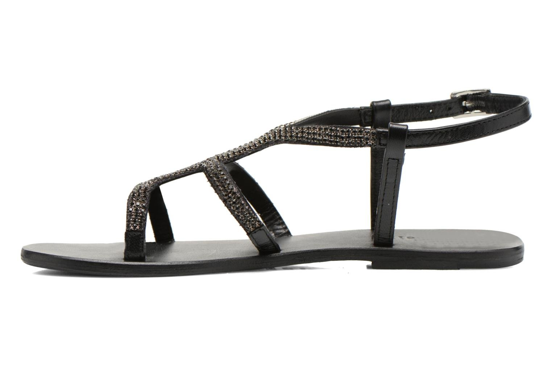 Sandals Minelli F63 802 Black front view