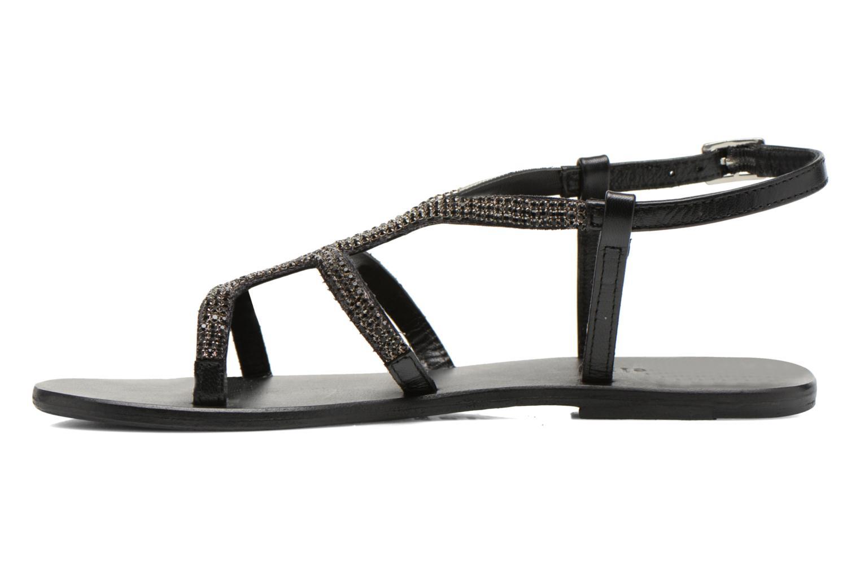 Sandales et nu-pieds Minelli F63 802 Noir vue face