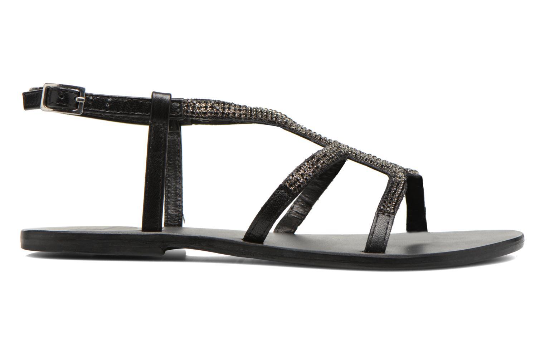 Sandalen Minelli F63 802 schwarz ansicht von hinten