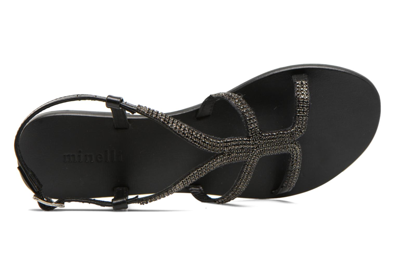 Sandals Minelli F63 802 Black view from the left