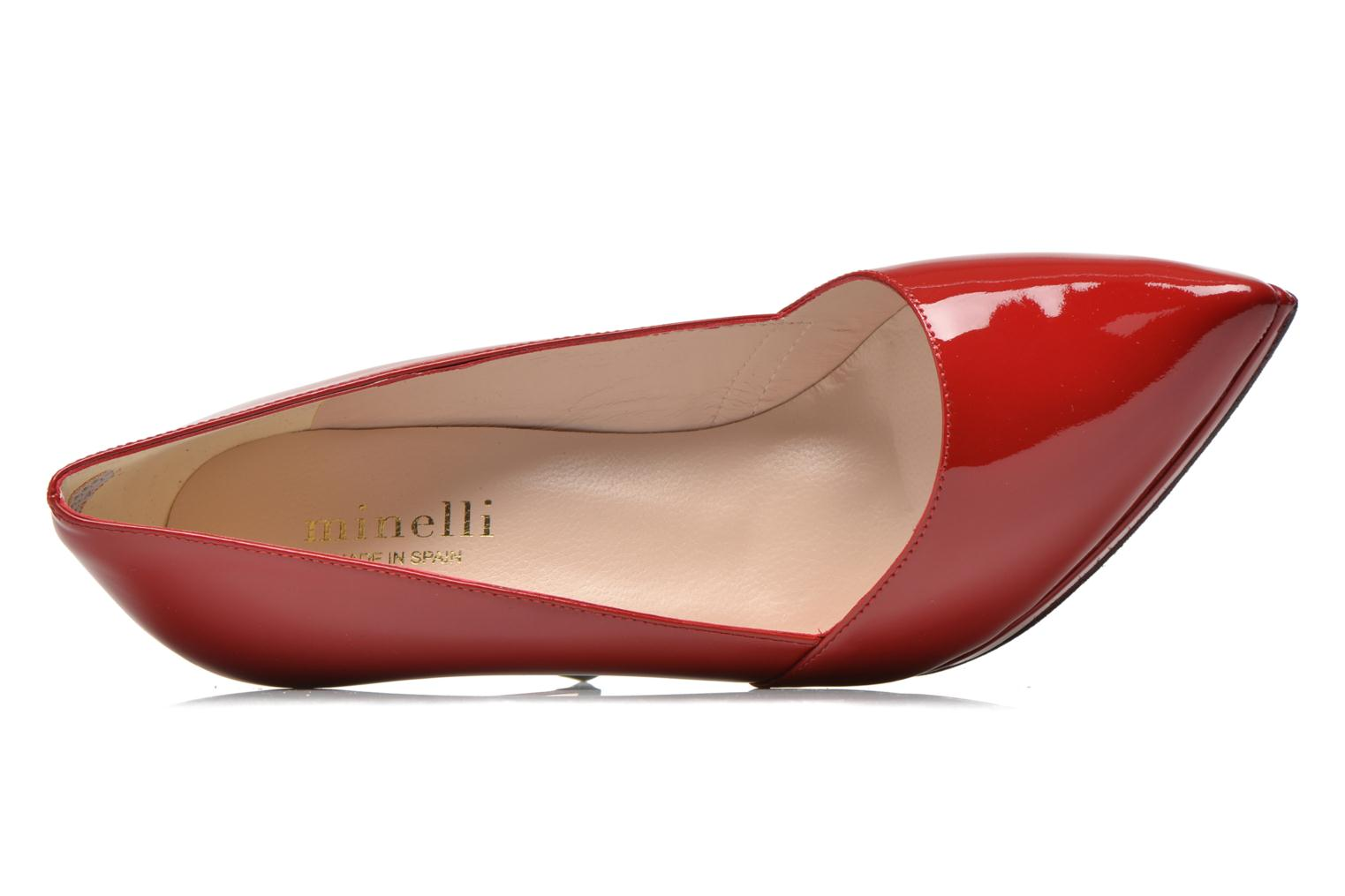 High heels Minelli F91 610/VER Red view from the left