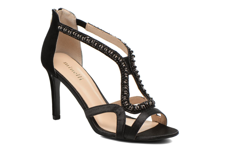 Sandales et nu-pieds Minelli F93 635/SAT Noir vue détail/paire