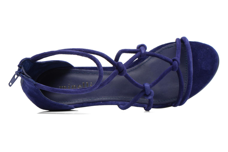 Sandales et nu-pieds Minelli F63 820/VEL Bleu vue gauche