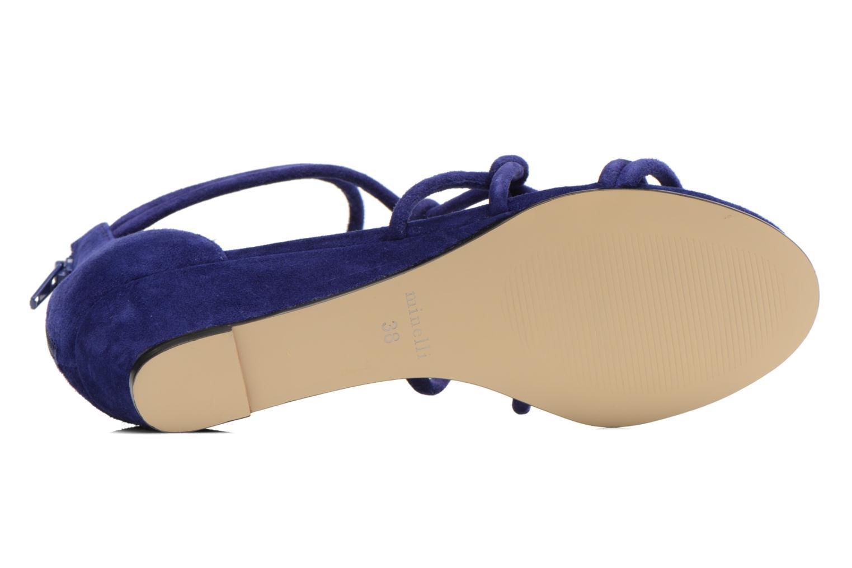 Sandales et nu-pieds Minelli F63 820/VEL Bleu vue haut