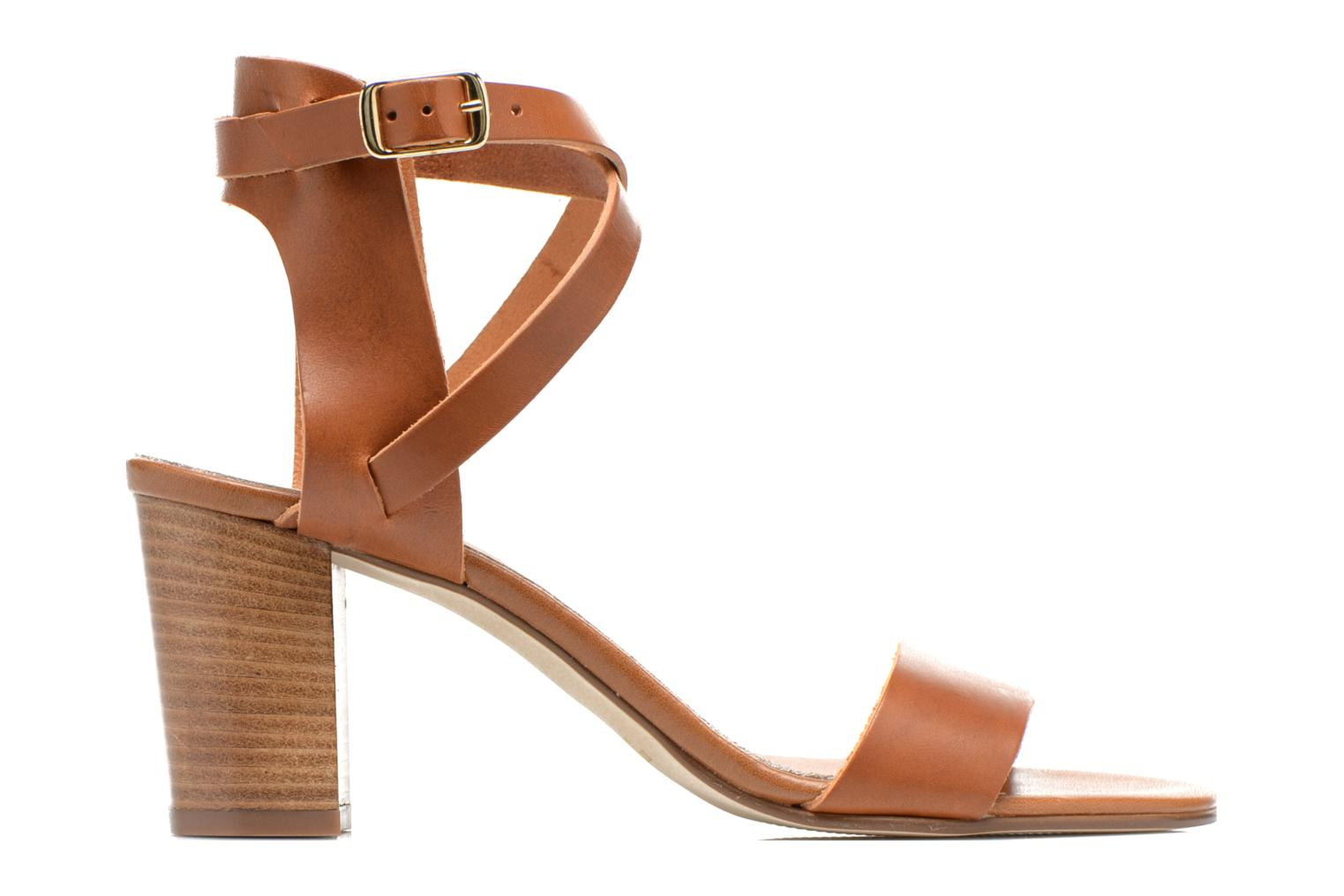 Sandals Minelli F93 684 Brown back view