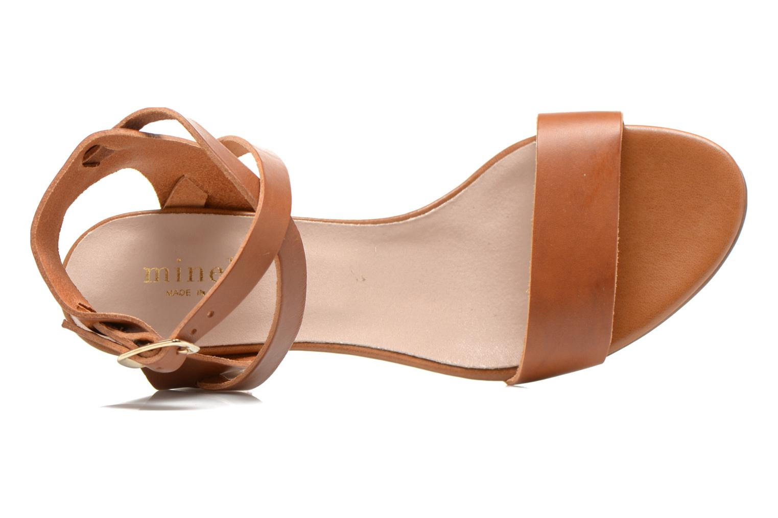Sandals Minelli F93 684 Brown view from the left