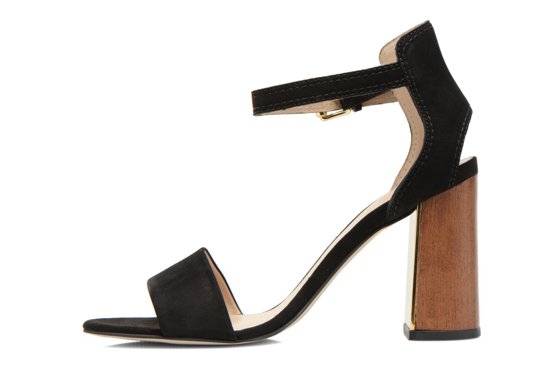 Sandals Minelli F93 860/NUB Black front view
