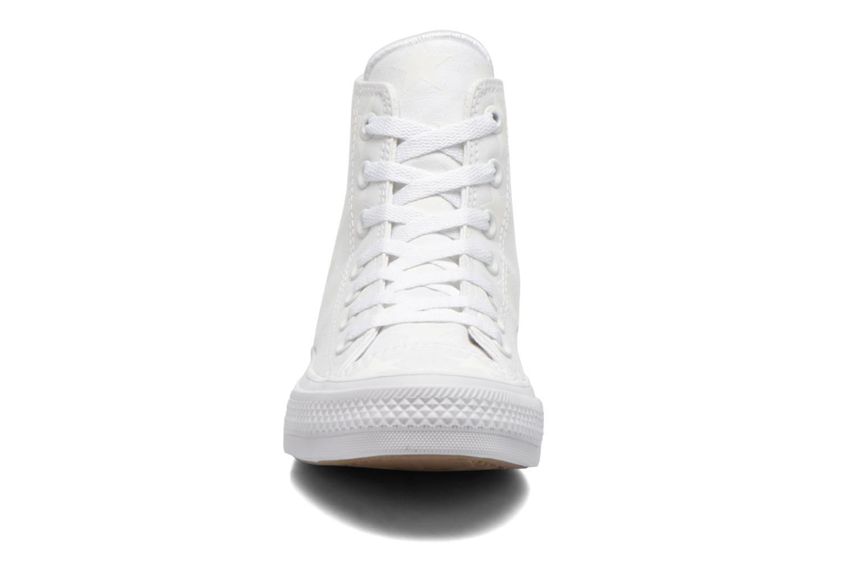 Sneakers Converse Chuck Taylor All Star II Hi W Bianco modello indossato