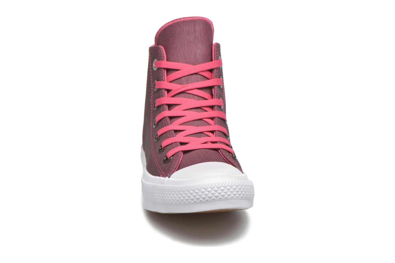 Baskets Converse Chuck Taylor All Star II Hi W Rose vue portées chaussures
