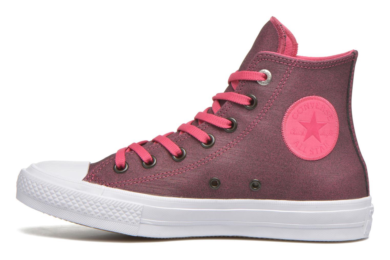 Sneaker Converse Chuck Taylor All Star II Hi W rosa ansicht von vorne